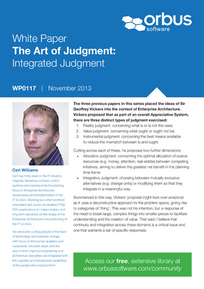 The Art of Judgment: Integrated Judgment