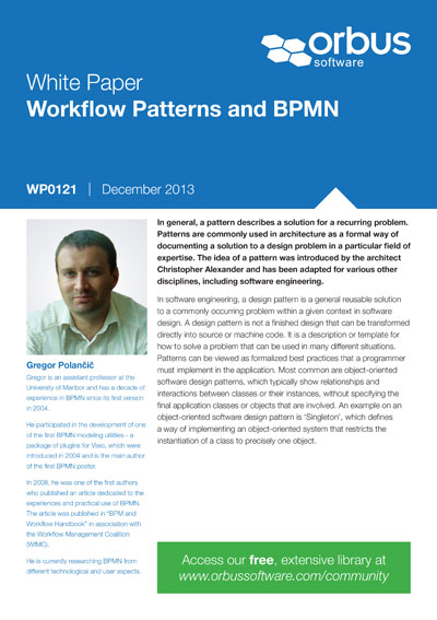 Workflow Patterns and BPMN