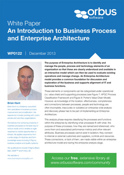 An Introduction to Business Process and Enterprise Architecture