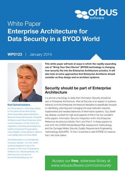 Enterprise Architecture for Data Security in a BYOD World
