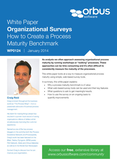 Organizational Surveys: How to Create a Process Maturity Benchmark