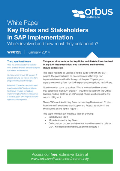 Key Roles and Stakeholders in SAP Implementation