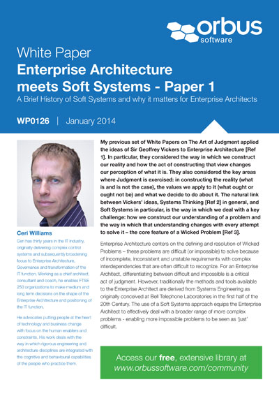 Enterprise Architecture meets Soft Systems - Paper 1