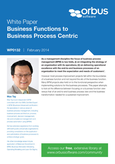 Business Functions to Business Process Centric