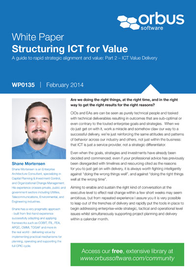 Structuring ICT for Value