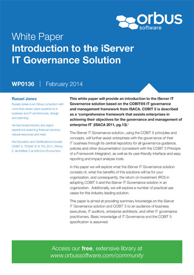 Introduction to the iServer IT Governance Solution