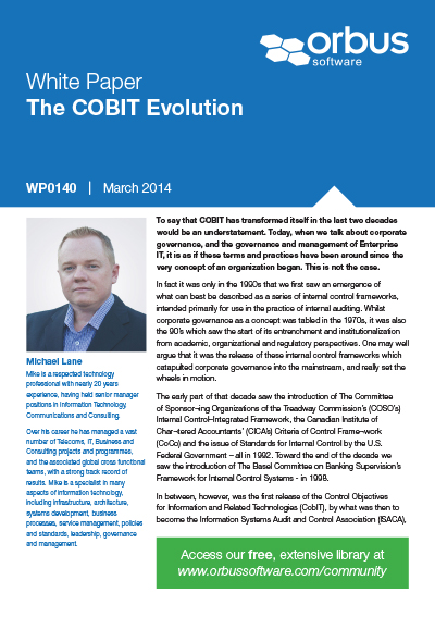 The COBIT Evolution