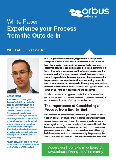 Experience your Process from the Outside In