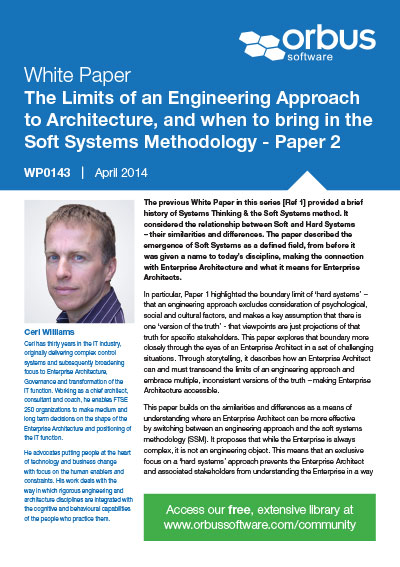 The Limits of an Engineering Approach to Architecture - Paper 2