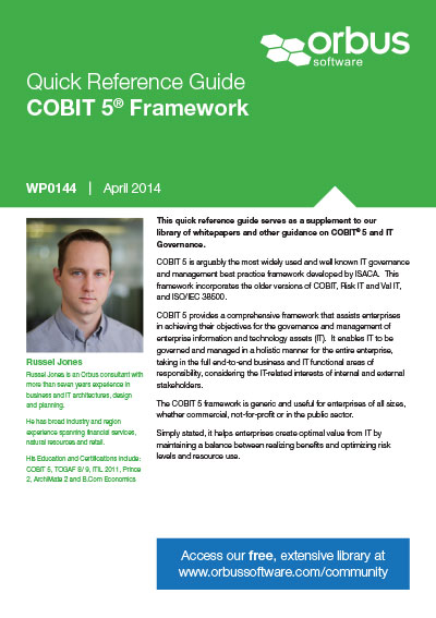 Quick Reference Guide: COBIT 5 Framework
