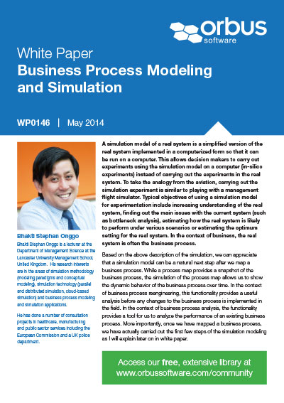 Business Process Modeling and Simulation