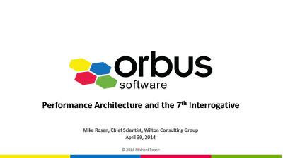 Performance Architecture and the 7th Interrogative