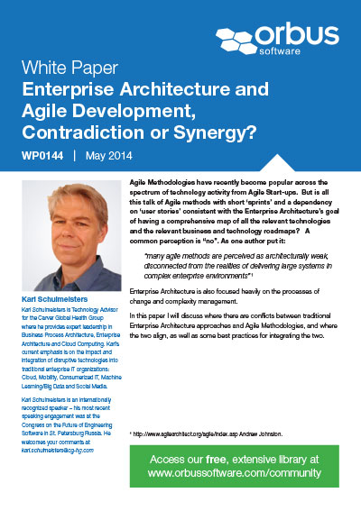 Enterprise Architecture and Agile Development, Contradiction or Synergy?