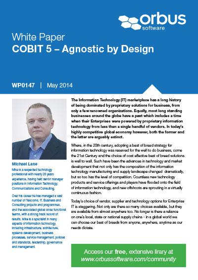 COBIT 5 – Agnostic by Design