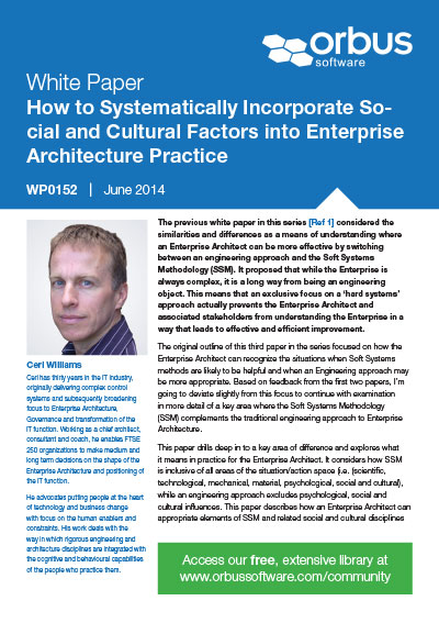 How to Systematically Incorporate Social and Cultural Factors into EA Practice - Paper 3