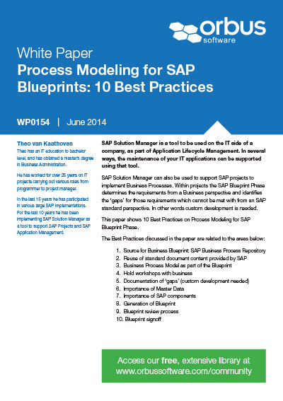 Sap blueprint resources orbus software process modeling for sap blueprints 10 best practices malvernweather Image collections