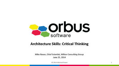 Improving your Architectural Skills Critical Thinking