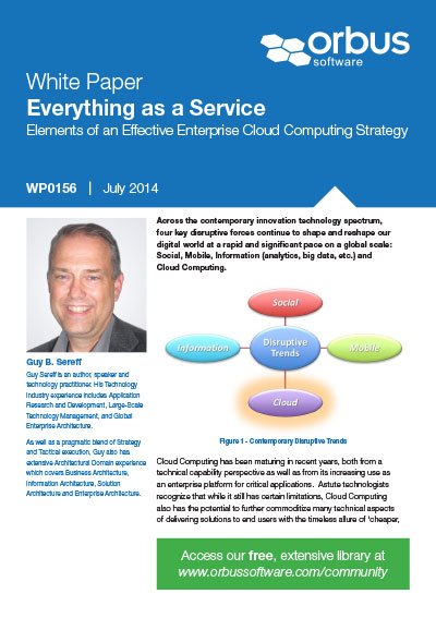Everything As A Service: Elements of an Effective Enterprise Cloud Computing Strategy