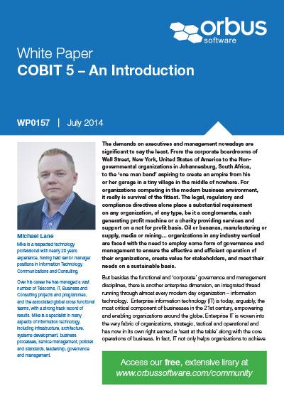 COBIT 5: An Introduction