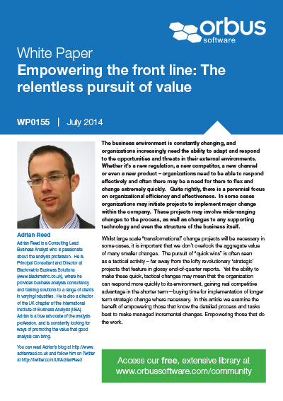 Empowering the front line: The relentless pursuit of value