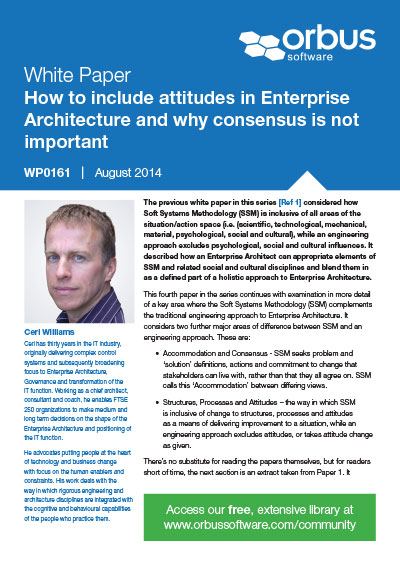 How to include attitudes in Enterprise Architecture and why consensus is not important - Paper 4