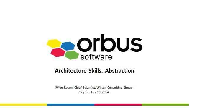 Architecture Skills: Abstraction - Slide Deck