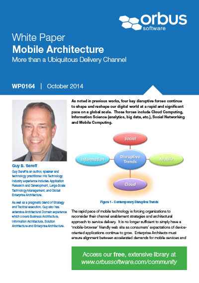 Mobile Architecture - More than a Ubiquitous Delivery Channel
