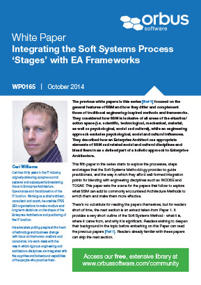 Integrating the Soft Systems Process 'Stages' with EA Frameworks - Paper 5