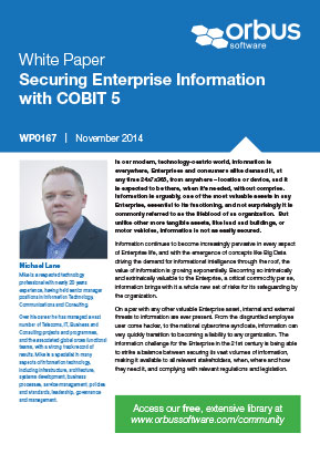 Securing Enterprise Information with COBIT 5 | Free Whitepaper | Orbus Software