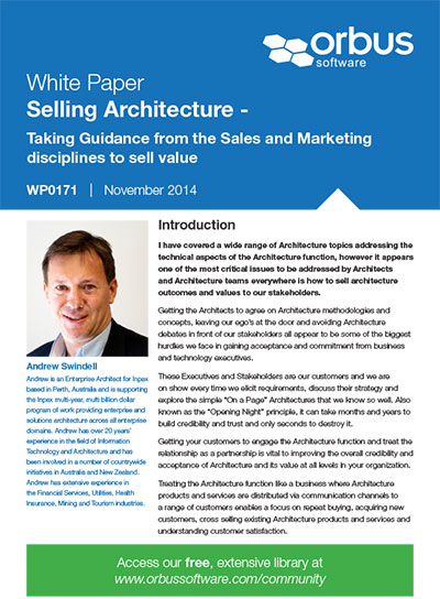 Selling Architecture - Taking Guidance from the Sales and Marketing disciplines to sell value