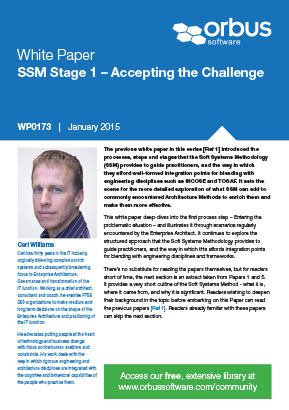 Soft Systems Methodology Stage 1: Accepting the Challenge - Paper 6