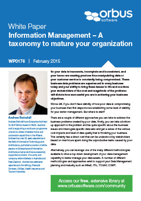 Information Management - A taxonomy to mature your organization