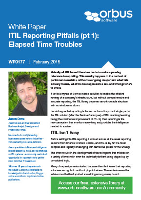 ITIL Reporting Pitfalls Part 1: Elapsed Time Troubles