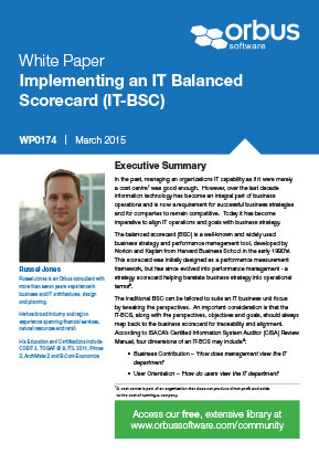 Implementing an IT Balanced Scorecard (IT-BSC)