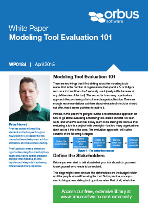 Modeling Tool Evaluation 101
