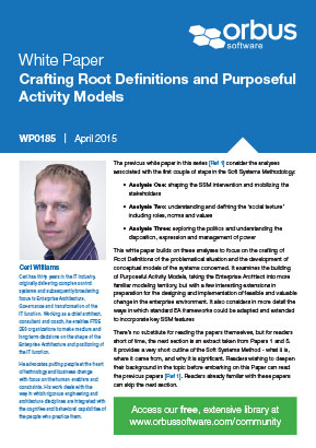 Crafting Root Definitions and Purposeful Activity Models - Paper 8