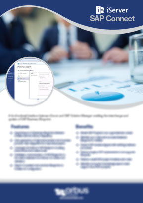 iServer SAP Connect Flyer - Orbus Software