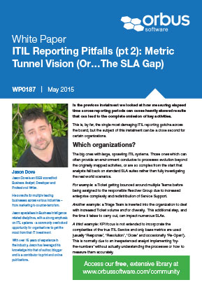 ITIL Reporting Pitfalls Part 2: Metric Tunnel Vision