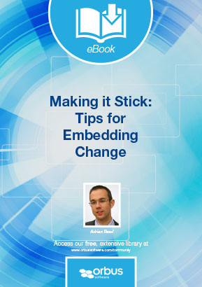 Making it stick: Tips for embedding change