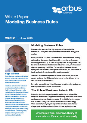 Modeling Business Rules