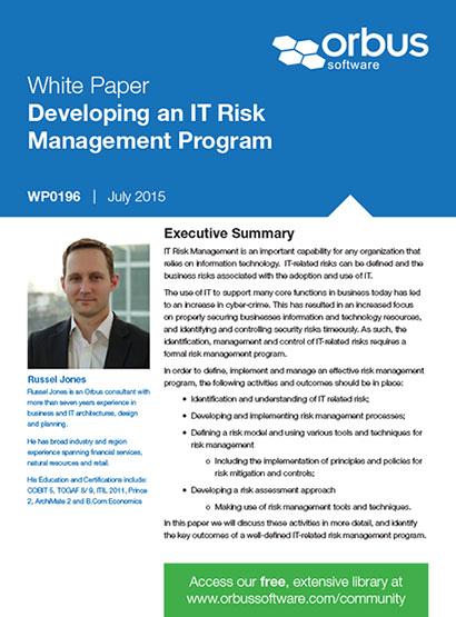 Developing an IT Risk Management Program