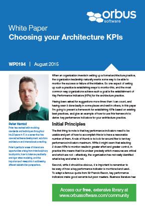 Choosing your Architecture KPIs