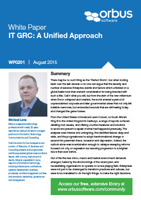 IT GRC: A Unified Approach