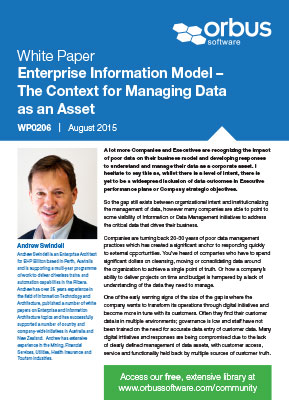 Enterprise Information Models - The Context for Managing Data as an Asset