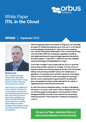 ITIL in the Cloud