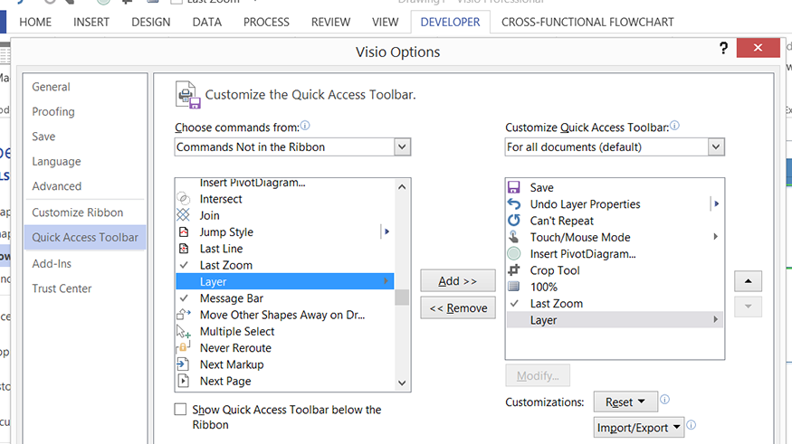 Using Layers For Visibility Printing And Color In Visio 2013