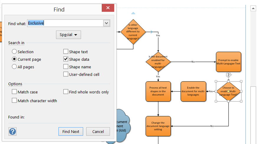 navigating pages and shapes in visio 2013 - Windows Visio 2013