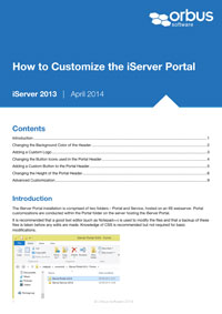 How to Customize the iServer Portal
