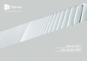 iServer 2017 User Guide: APM (Module 16)