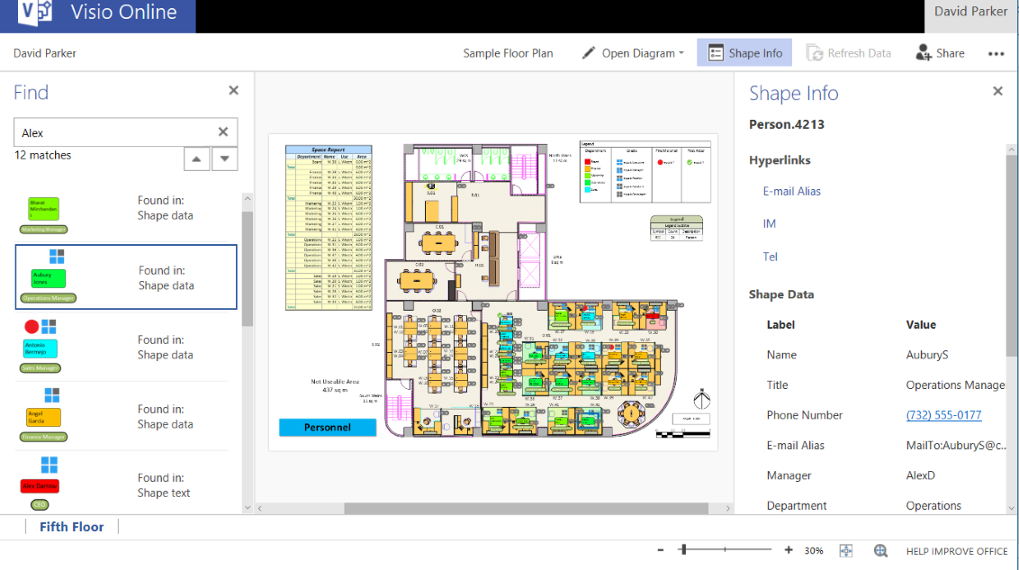 Viewing Documents with Microsoft Visio Online